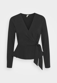 Nly by Nelly - WRAP ME PRETTY BLOUSE - Blouse - black - 0