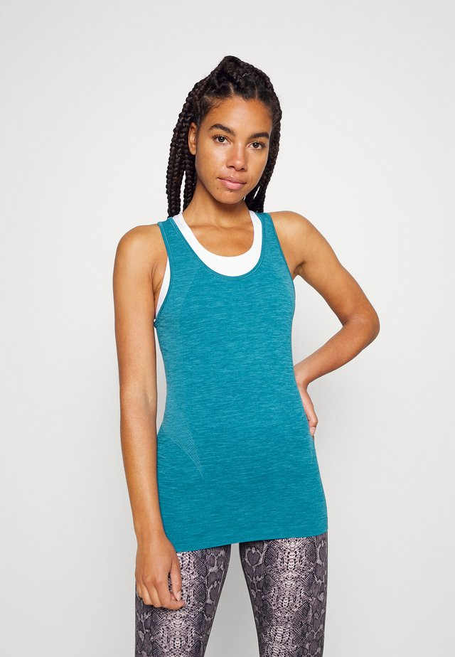 ATHLETE SEAMLESS WORKOUT - Top - teal blue