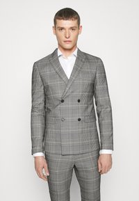 Lindbergh - DOUBLE BREASTED CHECK SUIT - Suit - brown - 2