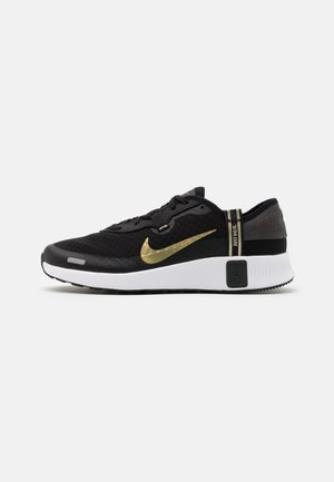 REPOSTO - Trainers - black/metallic gold star/dark smoke grey/white