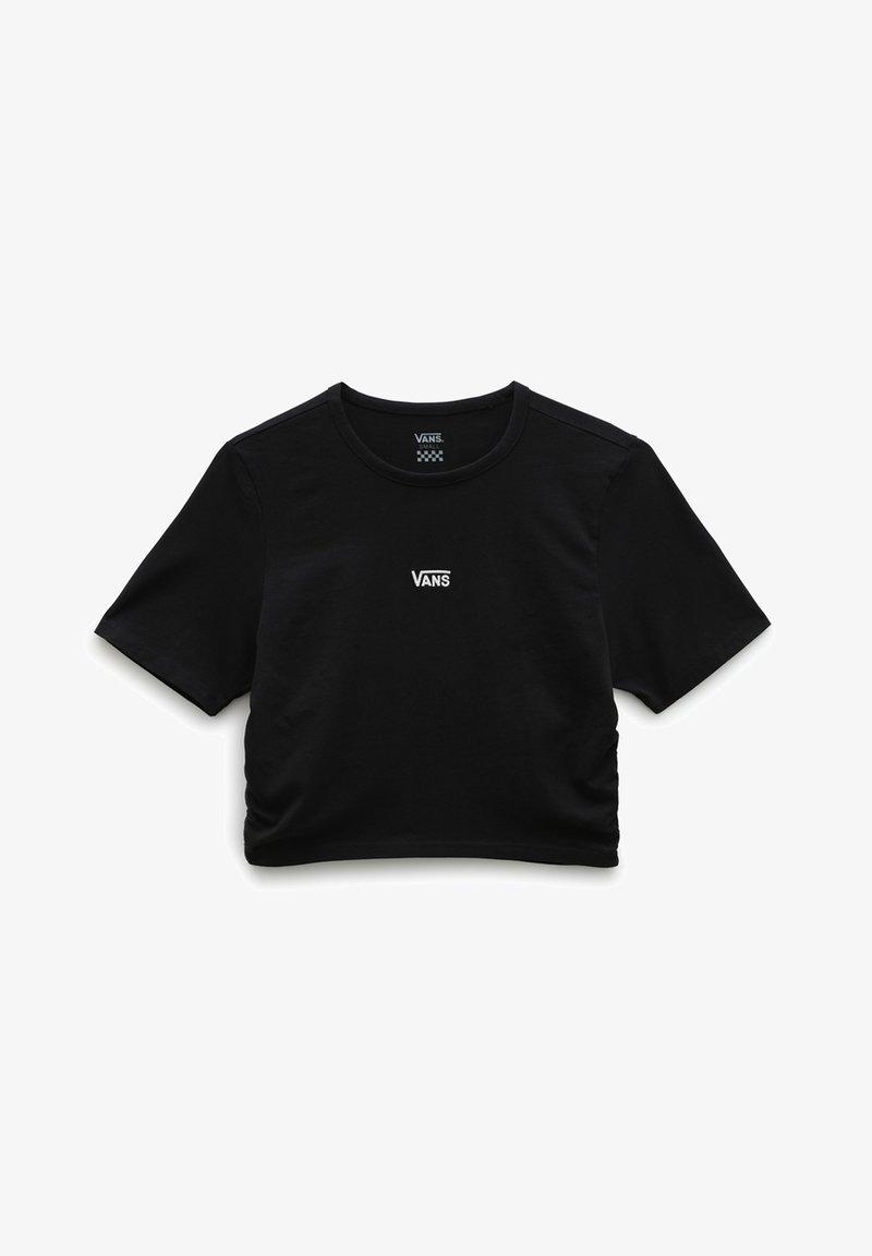Vans - WM SHEA ROUCHED CROP - Print T-shirt - black