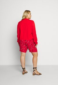 Lost Ink Plus - NECK BUTTON FRONT BLOUSE - Blůza - red - 2