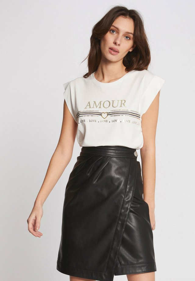 MESSAGE - T-shirt con stampa - off-white