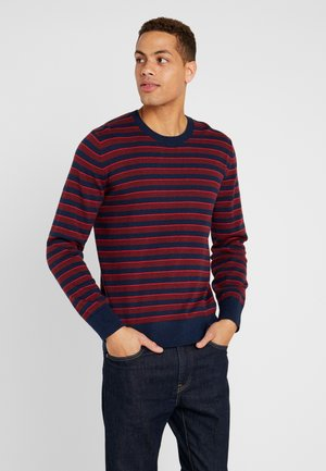 CORE ALLOVER STRIPE - Jumper - pure red