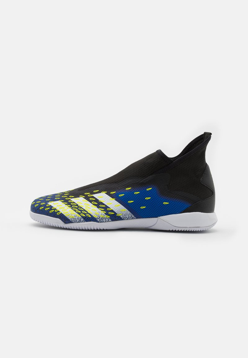 adidas Performance - PREDATOR FREAK .3 LL IN - Indoor football boots - core black/footwear white/solar yellow