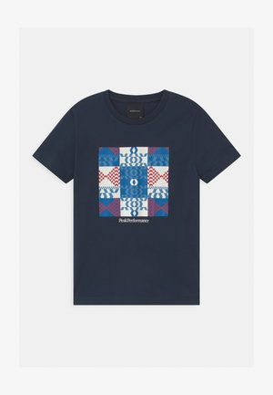 GROUND UNISEX - Print T-shirt - blue shadow