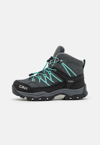 KIDS RIGEL MID SHOE WP UNISEX - Hiking shoes - titanio/acqua