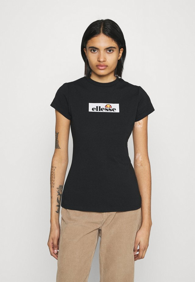 OMBRA - T-shirt con stampa - black