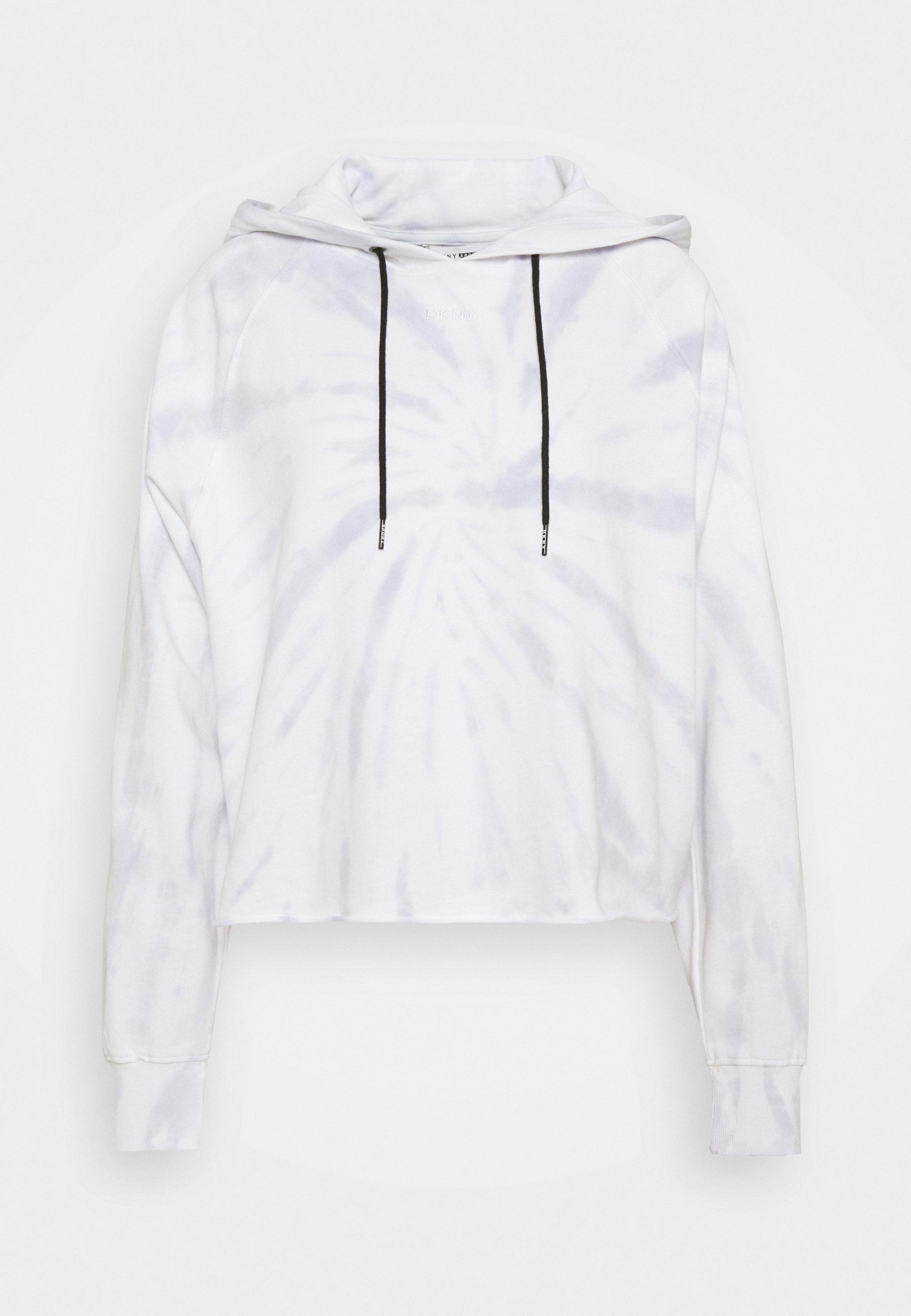 Women SPIRAL TIE DYE LOGO CROPPED HOODIE - Sweatshirt