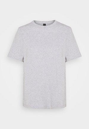 YASSARITA O-NECK TEE  - Basic T-shirt - light grey melange