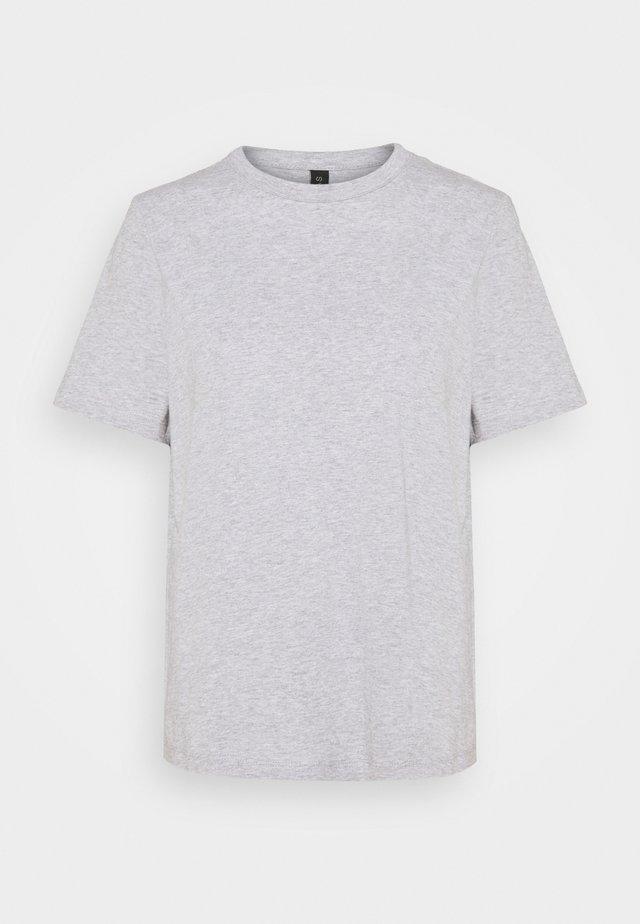 YASSARITA O-NECK TEE  - Jednoduché triko - light grey melange