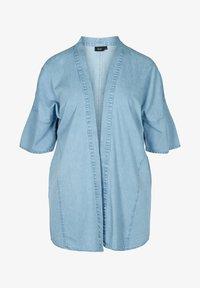 Zizzi - Short coat - light blue denim - 1