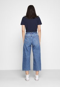 Even&Odd - Wide Leg Cropped jeans - Straight leg jeans - blue denim - 2