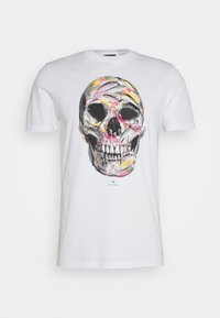 PS Paul Smith - MENS SLIM FIT SKULL - Print T-shirt - white - 0
