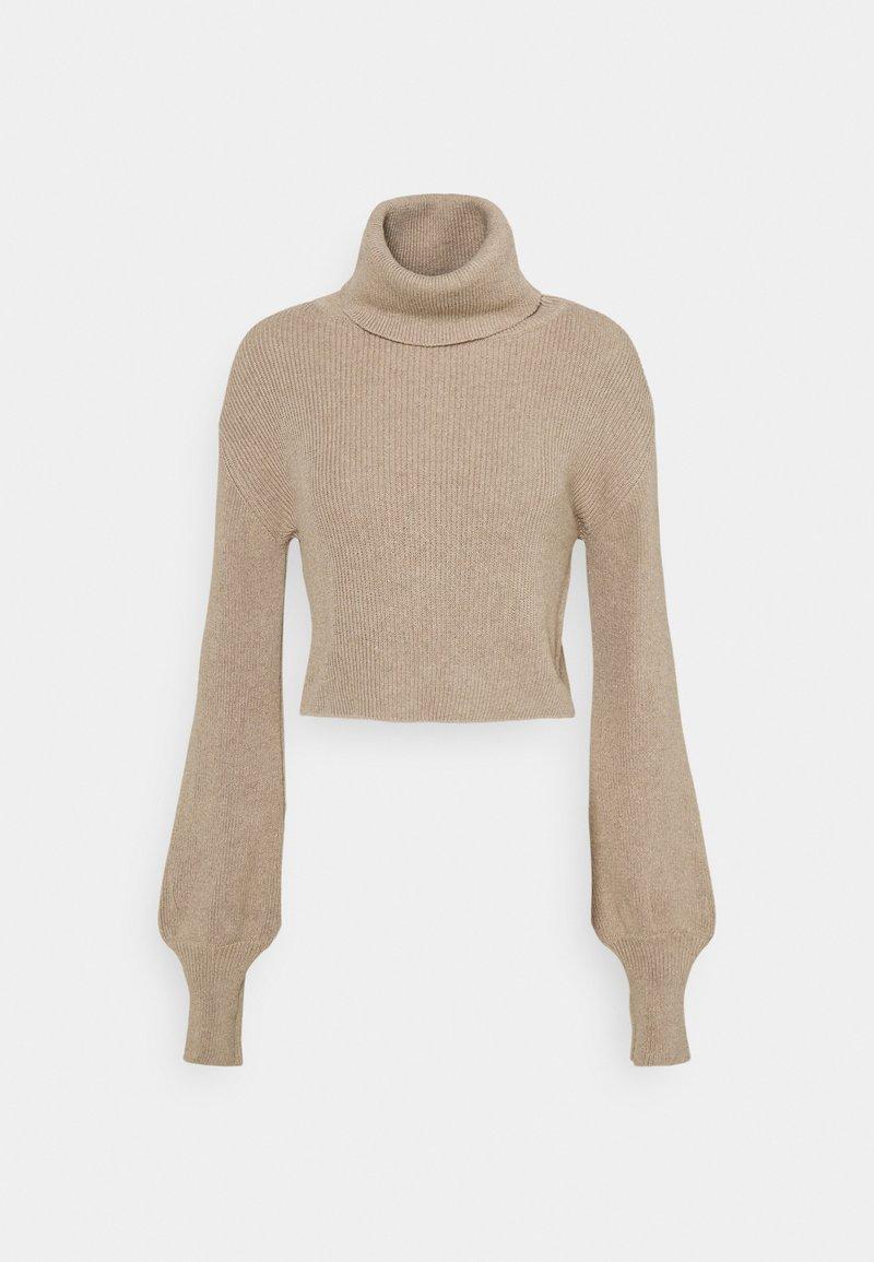 NU-IN - CROPPED TURTLENECK - Pullover - beige