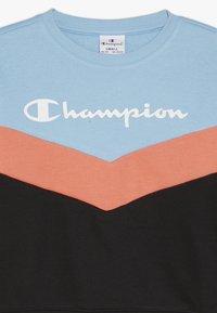 Champion - CHAMPION X ZALANDO COLORBLOCK CREWNECK  - Sweatshirt - black/light blue/coral - 3