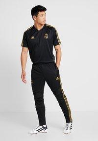 adidas Performance - REAL MADRID CLUB CLIMACOOL FOOTBALL PANTS - Tracksuit bottoms - black - 1