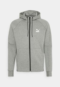 Puma - CLASSICS TECH HOODIE - Sweat à capuche zippé - medium gray heather - 0