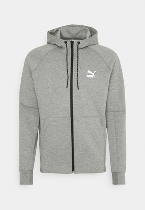 CLASSICS TECH HOODIE - Sweatjacke - medium gray heather
