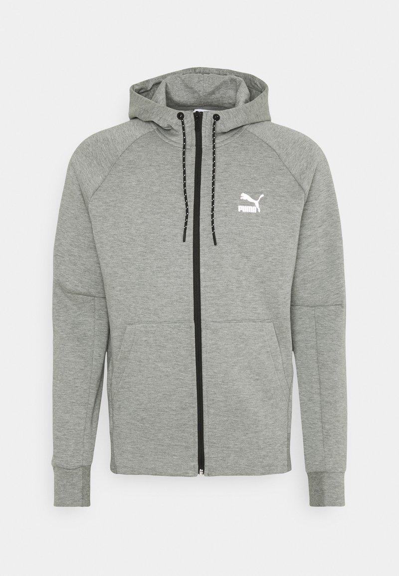 Puma - CLASSICS TECH HOODIE - Sweat à capuche zippé - medium gray heather
