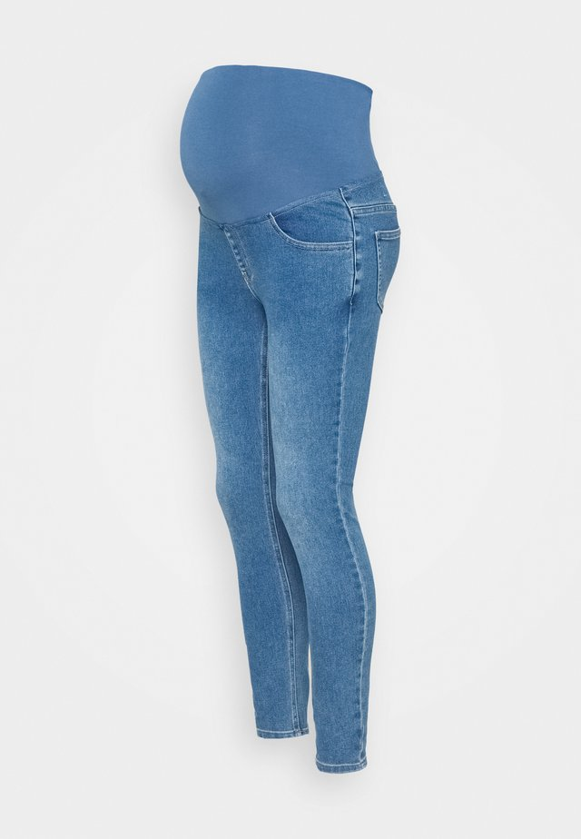 MATERNITY SUPER STRETCH - Skinny-Farkut - coogee blue