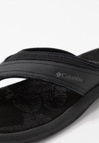 Columbia - KEA II - Sandalias de dedo - black/grey steel - 5