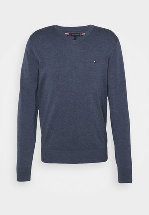 V NECK - Trui - faded indigo heather