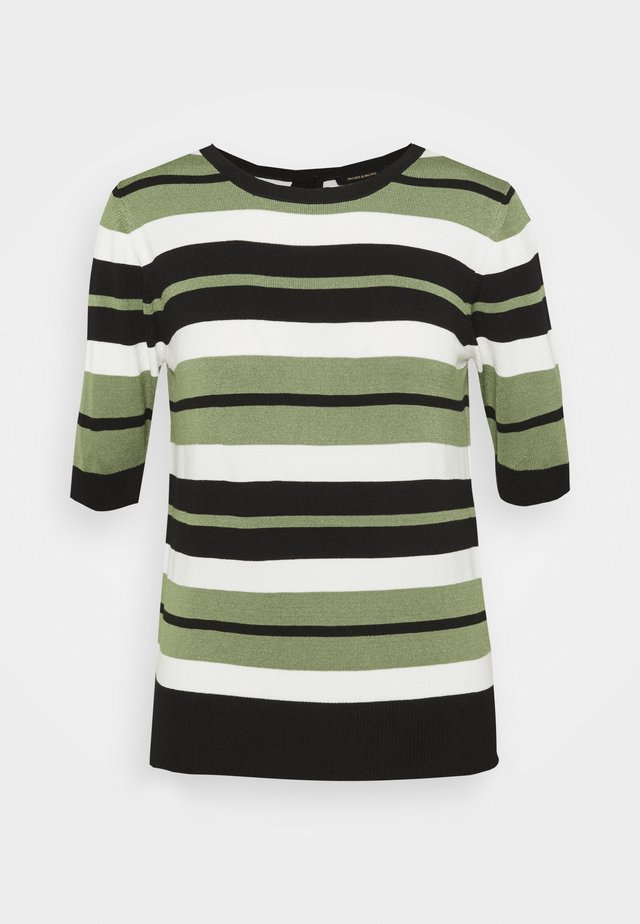 STRIPED SLEEVE - Maglione - herbal green
