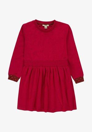 Gebreide jurk - berry red