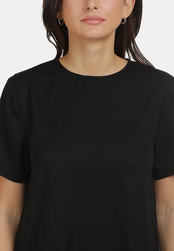 usha BLUSE - Bluzka - schwarz Kolor jednolity Odzież Damska WCOI EX 4