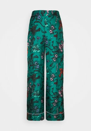 LETICIA - Trousers - multi/emerald