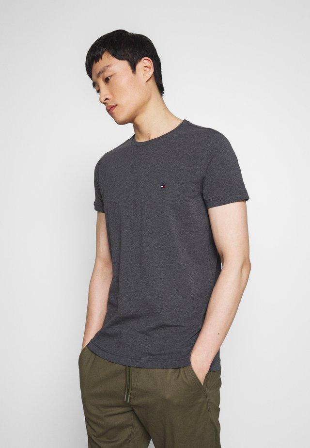 STRETCH SLIM FIT TEE - T-shirt basic - grey