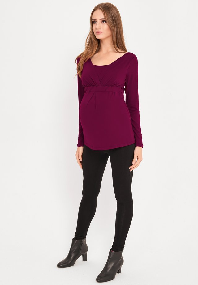 2 IN 1 - Long sleeved top - plum