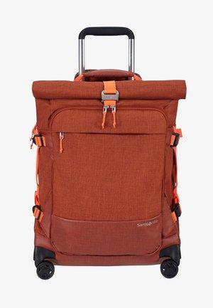 ZIPROLL - Wheeled suitcase - burnt orange
