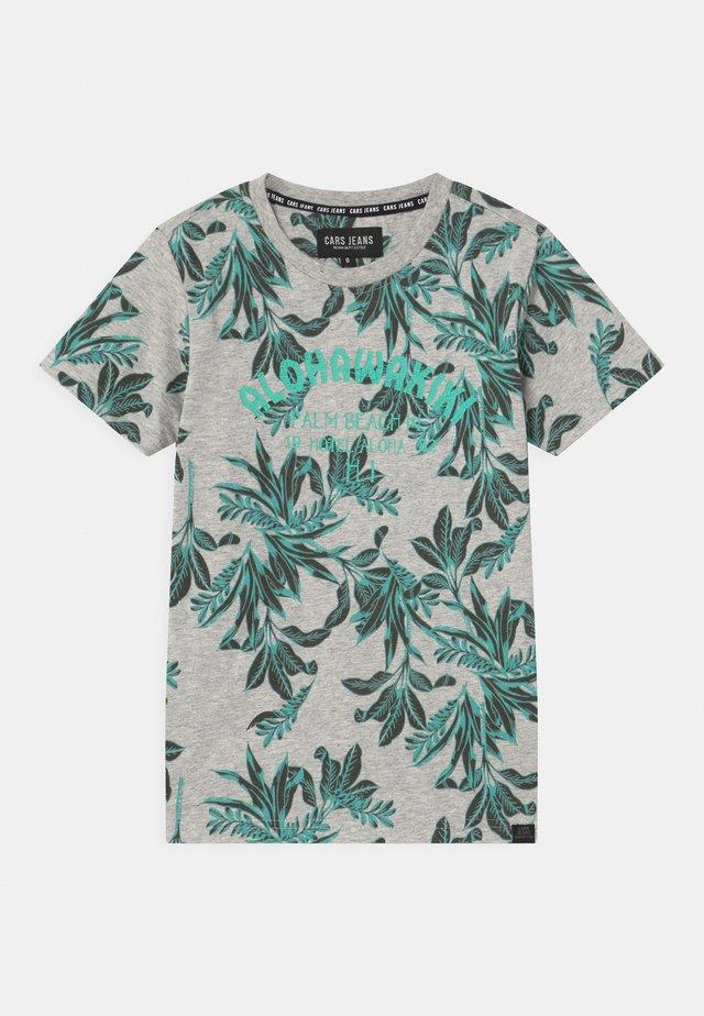 BOSSO - T-shirt con stampa - aqua