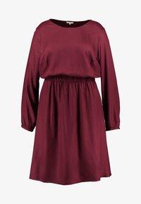 FLUENT ELASTIC WAIST DRESS - Day dress - deep burgundy red
