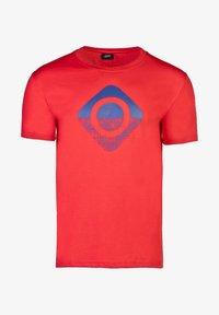 IZAS - GRANBY - T-shirt imprimé - red/bluemoon - 6