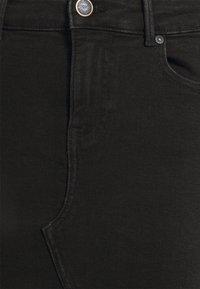 ONLY - ONLFAN SKIRT RAW EDGE - Minihame - black denim - 5