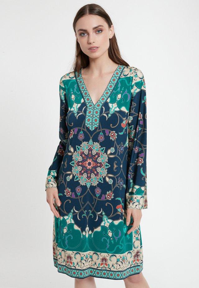 CEHEA - Korte jurk - petrol