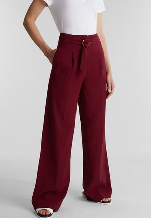 Trousers - bordeaux red