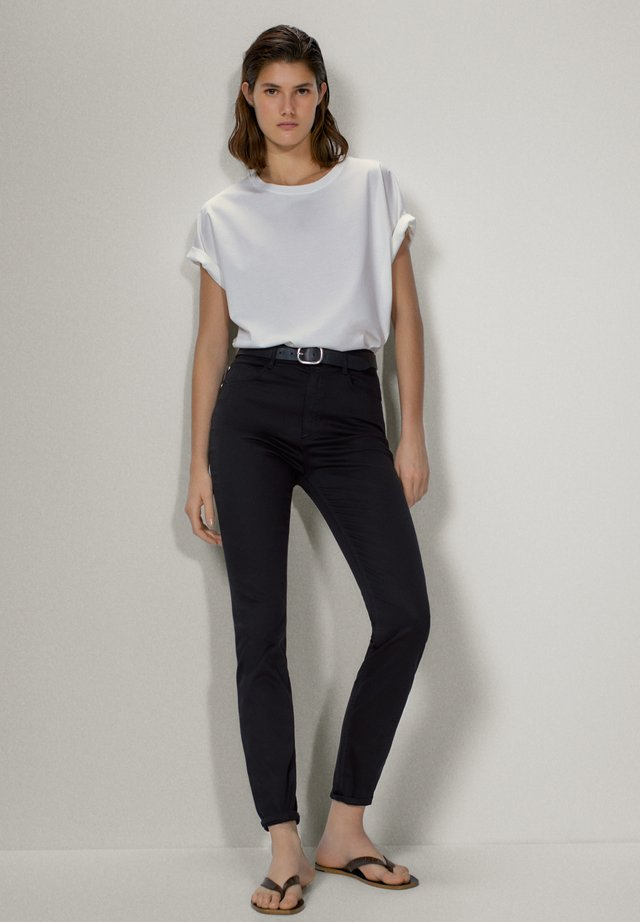 MIT HOHEM BUND  - Spodnie materiałowe - black