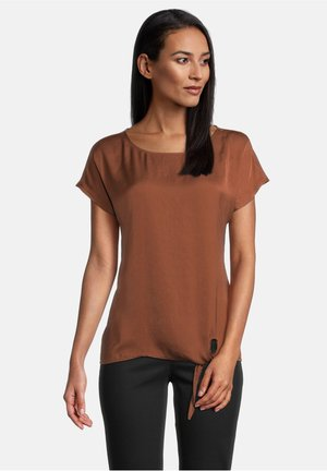 MIT SCHLEIFENKNOTEN - T-shirt print - braun