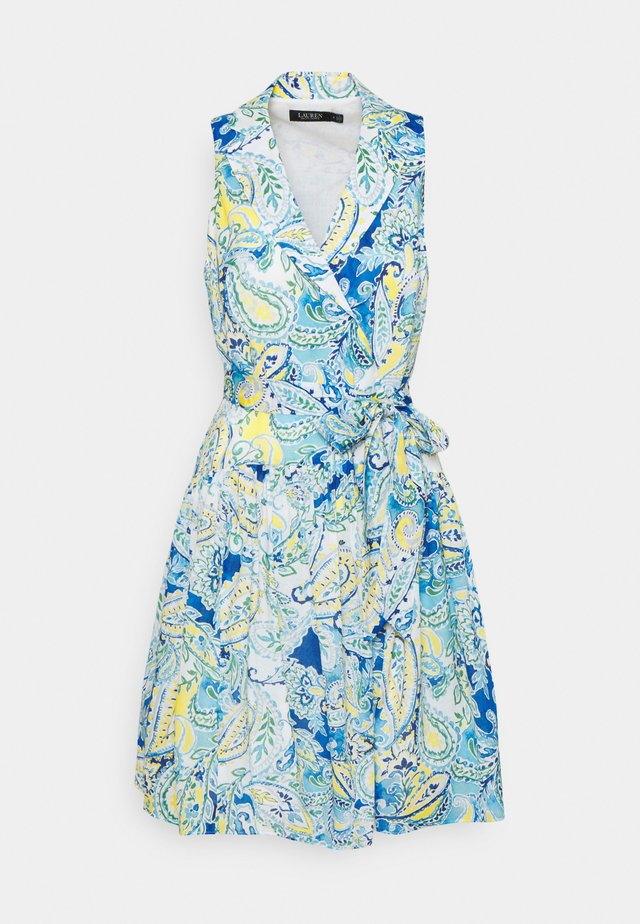 NIELSEN SLEEVELESS DAY DRESS - Denní šaty - cream/blue/multi