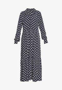 YASNICOLE DRESS  - Maxi dress - dark sapphire/with creme dots