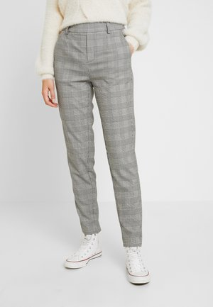 OBJLISA SLIM PANT - Trousers - gardenia/black