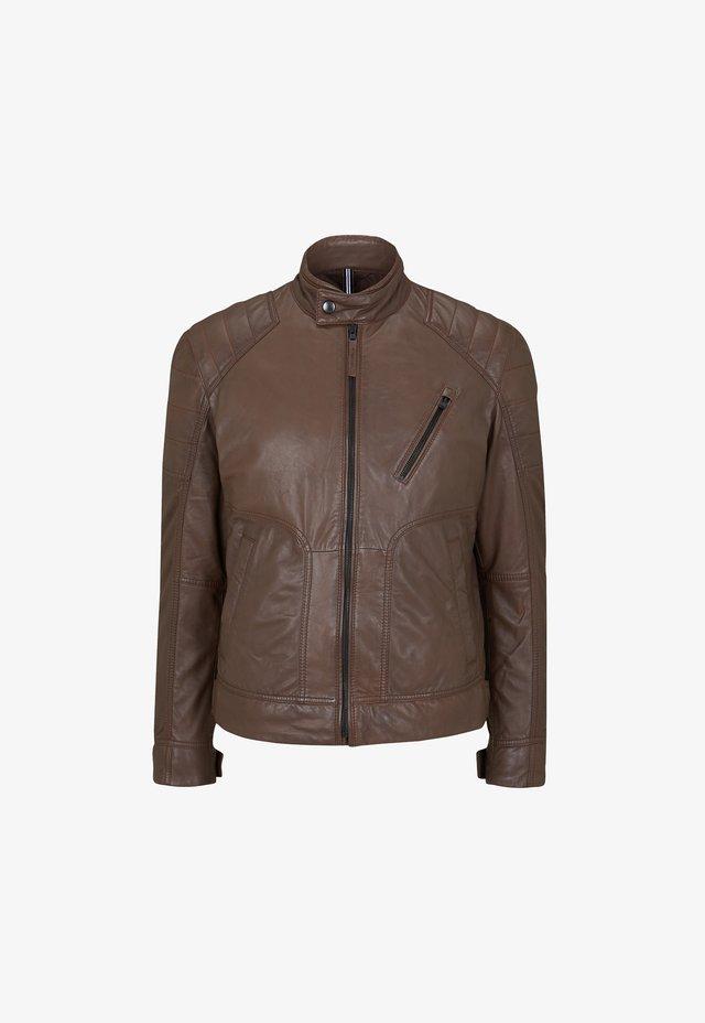 Leather jacket - nussbraun