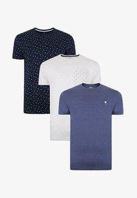 Threadbare - 3 PACK - Print T-shirt - mehrfarbig - 3