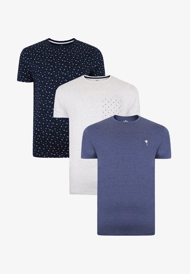 3 PACK - T-shirt imprimé - mehrfarbig