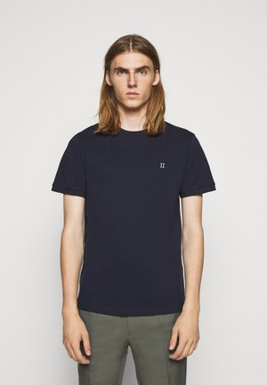 Basic T-shirt - dark navy/white