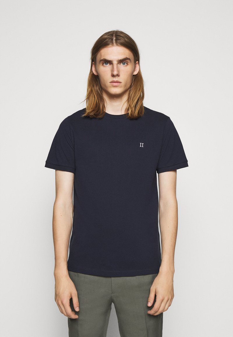 Les Deux - Basic T-shirt - dark navy/white